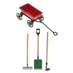 Jili Online 1/12 Scale Dollhouse Miniature Garden Tool Set R