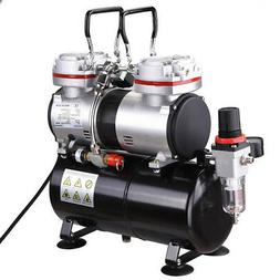 1/3 HP Two Piston Airbrush Compressor Cylinder w/ 3.5L Air T