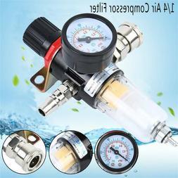 1/4''Air Compressor Filter Oil Water Separator Trap Filter w
