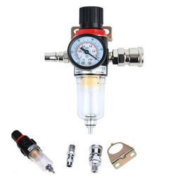"1/4"" Air Compressor Filter Water Trap Pressure Gauge Regulat"