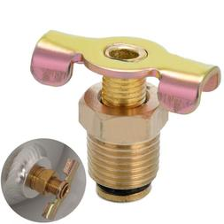 "1/4"" NPT Brass Air Compressor Tank Petcock Water Drain Valve"