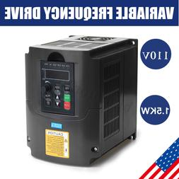 1.5KW 110V  VARIABLE FREQUENCY DRIVE INVERTER VFD Single To