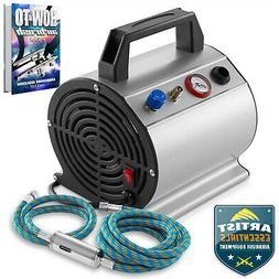 PointZero 1/6 HP Airbrush Compressor - Small Portable Quiet