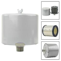 "1"" Air Compressor Intake Filter Silencer Metal Canister Hous"