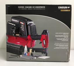 Husky 1 Gallon Air Compressor & 2-in-1 Brad Nailer / Stapler