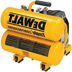 DEWALT 1.1 HP 4 Gallon Oil-Lube Hand Carry Air Compressor D5