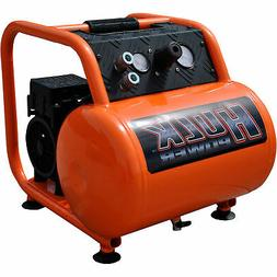 1 HP Quiet Portable Air Compressor, 125 PSI, 5 Gallon, HULK