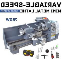 110V 8 x 16 750W Variable-Speed Mini Metal Lathe Bench Top D