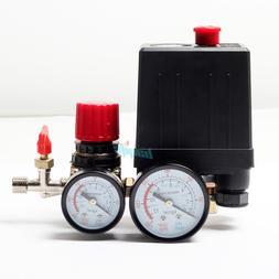 120PSI Air Compressor Pressure Switch Control Manifold Regul