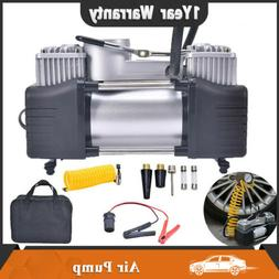 12V 150PSI Heavy Duty Double Cylinder Air Pump Compressor Ca
