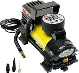 12V DC Portable Air Compressor Pump, Digital Tire Inflator,
