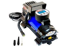 EPAuto 12V DC Portable Air Compressor Pump, Digital Car Tire