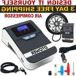 12v Tire Inflator Air Compressor Filler Portable Electric Pu