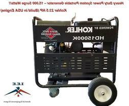 15000 watt Generator Heavy Duty Kohler 23.5HP Made is US Eng