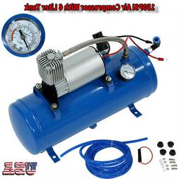 150psi 12V Air Compressor With 6 Liter Tank for Air Horn Tra