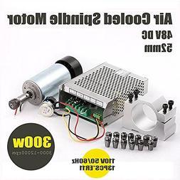 Konmison 1Set DIY Mini CNC 300w DC Spindle Motor + 52MM Clam
