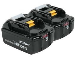 2 Genuine Makita BL1850B 18V LXT Lithium-Ion Batteries 5.0Ah