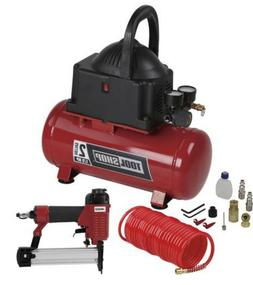 2 Gallon Electric Air Compressor Combo Kit Portable Stapler