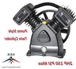 2 HP Air Compressor Pump 150 PSI MAX Replacement Pump, Twin