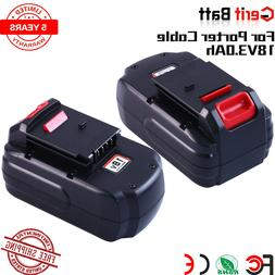 2Pack 3.0Ah 18V Replace For Porter Cable PC18B NI-MH Battery