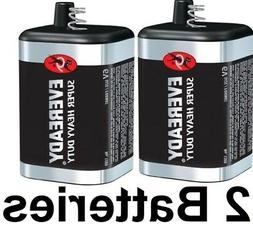 2 PACK EVEREADY 6V Carbon-Zinc Super Heavy Duty Lantern Batt