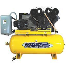25 HP Air Compressor, 120-Gallon, Horizontal, 2-Stage, 3PH,