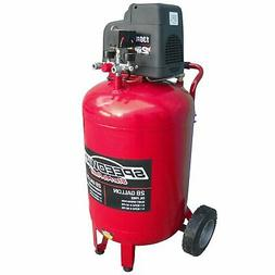 Speedway 28 Gal Oil Free 2HP Vertical Compressor with dual l