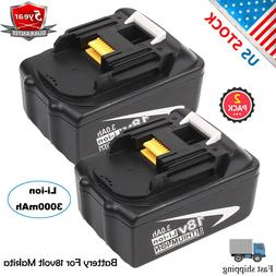 2Pack NEW 18V 3.0AH Lithium-Ion Battery For MAKITA BL1830 BL