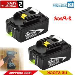 2PACK Makita BL1850B 18V LXT Lithium-Ion Battery 5.0Ah LED i