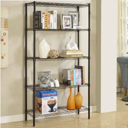 3/4/5 Layer Wire Shelving Rack Metal Shelf Adjustable Home-s