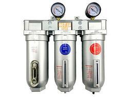 "3/4"" Inline Compressed Air Filter Moisture Separator Trap De"