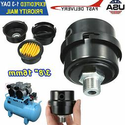 "3/8"" Thread Metal Air Compressor Intake Filter Noise Muffler"
