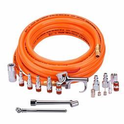 "3/8""X25ft PVC Air Compressor Hose With 17 Piece Air Tool and"