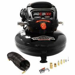 Speedway 3 gal Pancake Compressor Oil Free Incl 25' PU Recoi