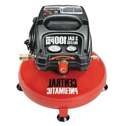3 Gallon 100 PSI Pancake Mini Portable Air Compressor Oil-Fr