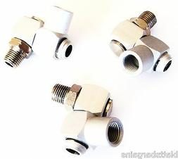 3 INDUSTRIAL ALUMINUM AIR 360 SWIVEL FITTING CONNECTORS HOSE