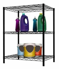 3 Layer Wire Shelving Rack Unit Storage Adjustable Metal She