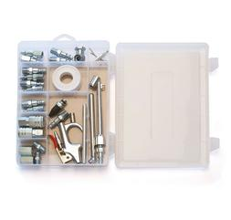 Primefit 30 Piece Air Compressor Accessory Kit with Storage