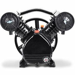 Goplus 3HP 2 Piston V Style Twin Cylinder Air Compressor Hea