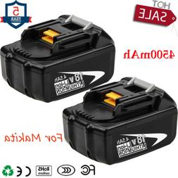 2X18V 4.5Ah Rechargeable Battery for Makita BL1845 BL1830 BL
