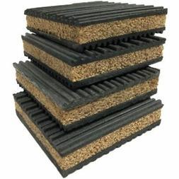 4 Pack Of Anti Vibration Pads 4&quot X 7/8&quot Rubber/Cork