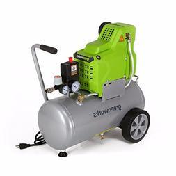 Greenworks 4101902 6 Gallon Horizontal Air Compressor with I