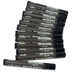 Dixon 49400 Lumber Marking Crayons, Black, 12-Pack