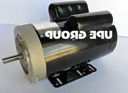 5 HP 21 FL Amp 3450 RPM Electric Motor For Air Compressor 56