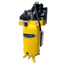 5 HP Quiet Air Compressor, 1PH, 2-Stage, 80-Gallon, Vertical