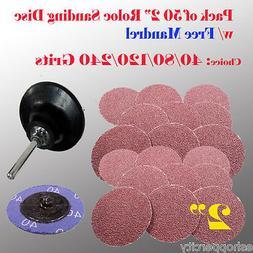 "50+1 2"" Roloc Type R Sanding Abrasive Disc Free Mandrel Pad"