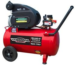 Speedway 52956 Air compressor with Pneumatic Tires, 10 gallo