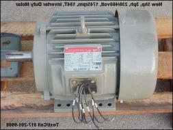 5hp 3ph Electric Motor, 230/460v 1745rpm Inverter Duty, Lath