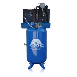 5HP Air Compressor 2 Stage Single Phase 80 Gallon Tank Verti