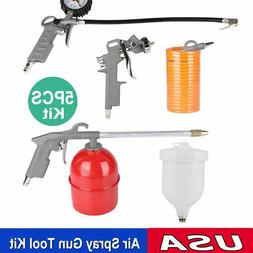 5x Air Compressor Tool Kit Gravity Spray Gun Tyre Inflator D